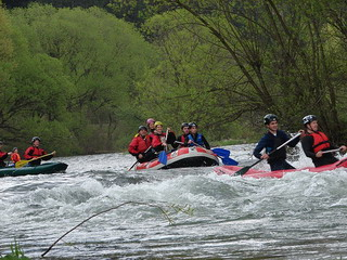 rafting on Crisul Repede river