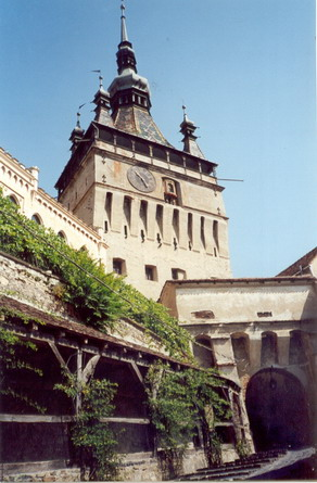 the clock tower of Sighisoara